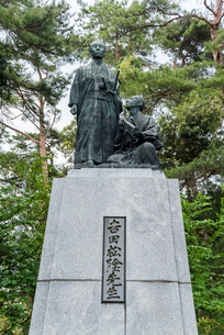 吉田松陰と金子重輔の像の写真素材 [FYI01710411]