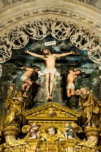 ブルゴス大聖堂内礼拝堂のキリストの写真素材 [FYI01710488]