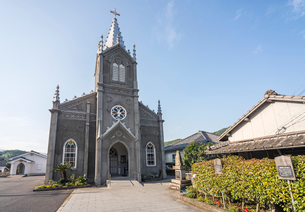 天草崎津集落の崎津教会の写真素材 [FYI01710648]
