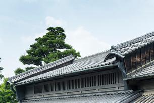 卯建つのある屋根風景の写真素材 [FYI01710659]
