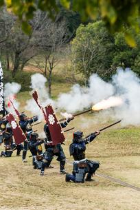 戦国イベントの鉄砲隊の写真素材 [FYI01710709]