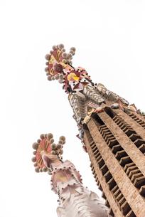 サグラダ・ファミリア尖塔の先端の写真素材 [FYI01710762]