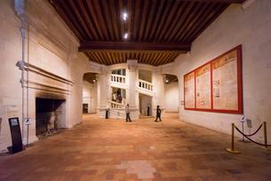 シャンボール城の暖炉のあるロビーの写真素材 [FYI01710968]