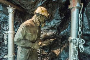 炭坑掘削作業中の展示物の写真素材 [FYI01711185]