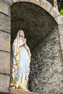 頭ヶ島天主堂のマリア像の写真素材 [FYI01711263]