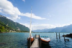 スイス シオン城近辺 レマン湖畔の写真素材 [FYI01711331]