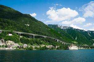 スイス シオン城 レマン湖畔の写真素材 [FYI01711360]