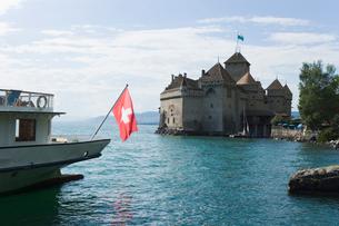 スイス シオン城 レマン湖畔の写真素材 [FYI01711487]