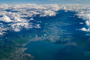 スイス モントルー近郊空撮の写真素材 [FYI01711639]