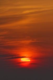 夕日の写真素材 [FYI01711686]
