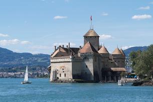 スイス シオン城 レマン湖畔の写真素材 [FYI01711708]