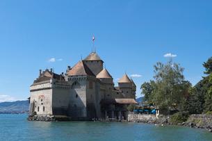 スイス シオン城 レマン湖畔の写真素材 [FYI01711949]