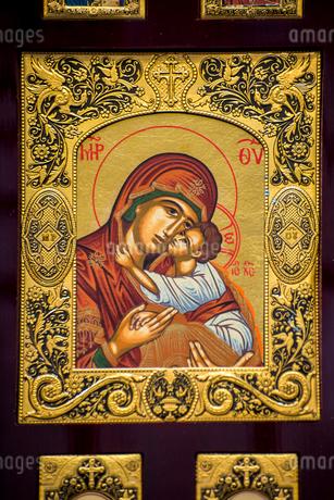 聖母子画のスーベニールの写真素材 [FYI01711967]