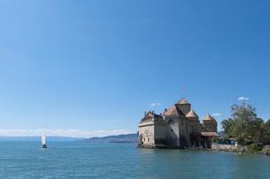 スイス シオン城 レマン湖畔の写真素材 [FYI01712140]
