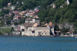 スイス シオン城 レマン湖畔の写真素材 [FYI01712224]