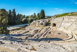 ネアポリス考古学公園のギリシャ劇場の写真素材 [FYI01712225]