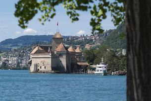 スイス シオン城 レマン湖畔の写真素材 [FYI01712226]