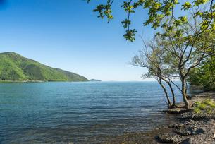 奥琵琶湖風景の写真素材 [FYI01712256]