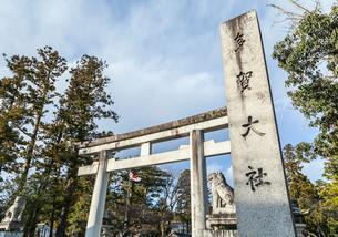 多賀大社正面鳥居風景の写真素材 [FYI01712276]