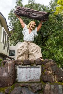 天岩戸神社西本宮の手石男命戸取像の写真素材 [FYI01712442]
