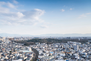 仁徳天皇陵古墳を見る界市街地の写真素材 [FYI01712518]