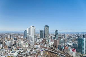 見下ろす名古屋駅風景の写真素材 [FYI01712535]