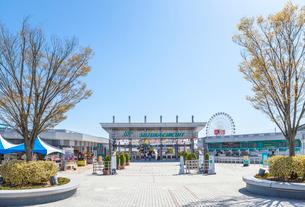 鈴鹿サーキットメインゲート風景の写真素材 [FYI01712605]