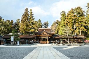多賀大社拝殿風景の写真素材 [FYI01712645]