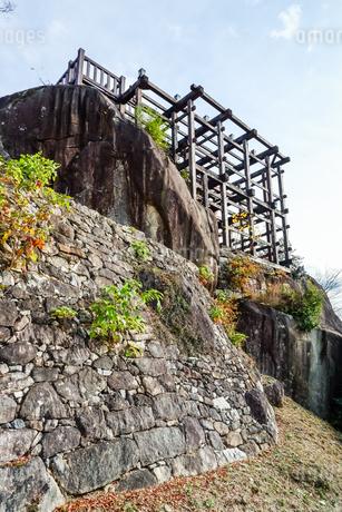苗木城跡天守展望台の写真素材 [FYI01712653]