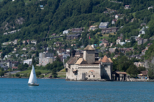 スイス シオン城 レマン湖畔の写真素材 [FYI01712816]