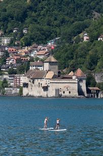 スイス シオン城 レマン湖畔の写真素材 [FYI01713032]