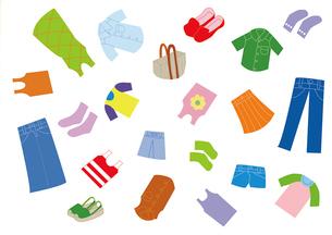 夏の服や鞄と靴のイラスト素材 [FYI01713094]