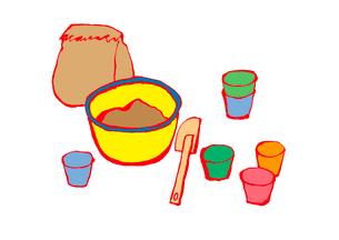 ケーキ作り、ボウル、カップ。のイラスト素材 [FYI01713095]
