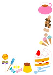 お菓子のフレームのイラスト素材 [FYI01713097]