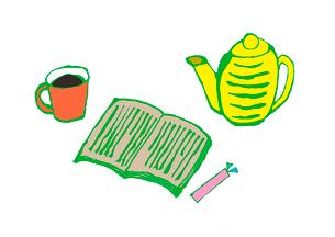 本、しおり、コーヒー。のイラスト素材 [FYI01713154]