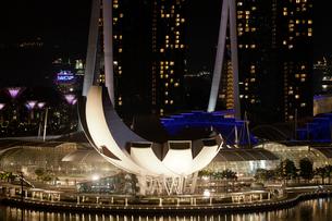 シンガポール夜景、深夜のフィンガーの写真素材 [FYI01713256]