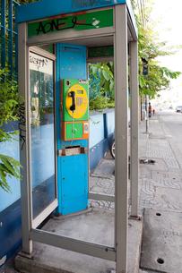 バンコク 街の公衆電話の写真素材 [FYI01713575]