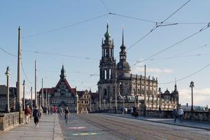 ドレスデン街並み 宮廷教会などの写真素材 [FYI01713721]