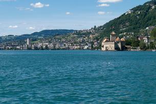 スイス シオン城 レマン湖畔の写真素材 [FYI01713993]