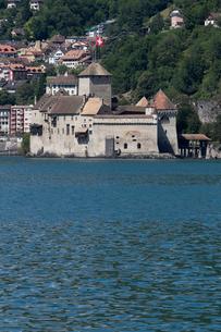スイス シオン城 レマン湖畔の写真素材 [FYI01714691]