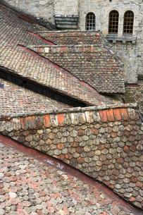 スイス シオン城 屋根の写真素材 [FYI01714701]