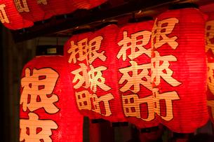 粉河祭り だんじりの提灯の写真素材 [FYI01714782]