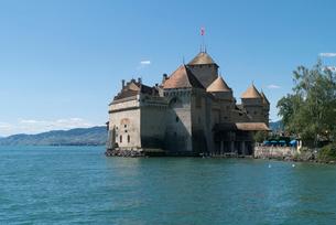 スイス シオン城 レマン湖畔の写真素材 [FYI01714906]