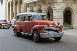 キューバ クラシックカーの写真素材 [FYI01714934]