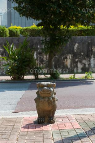 那覇市 道ばたのシーサーの写真素材 [FYI01715526]