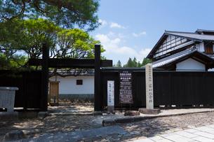 木曽馬籠宿 藤村記念館の写真素材 [FYI01715987]