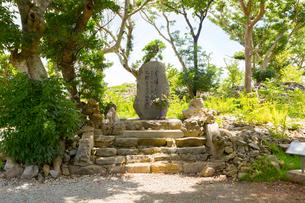 今帰仁城跡、志慶真乙樽の歌碑の写真素材 [FYI01716126]