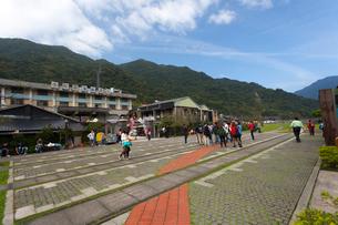 台湾、平渓線、猫村の山並みの写真素材 [FYI01716141]