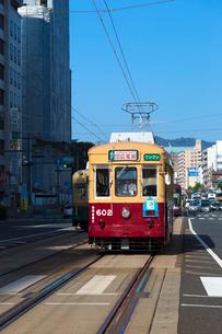 広島の路面電車の写真素材 [FYI01716328]
