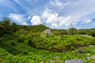 沖縄世界遺産、今帰仁城跡のカーザフの写真素材 [FYI01716437]